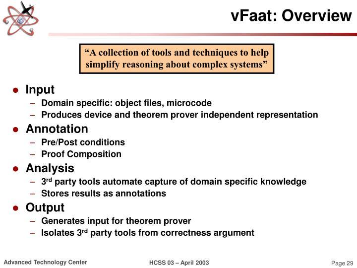 vFaat: Overview