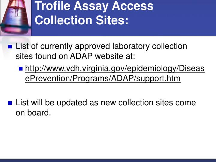 Trofile Assay Access Collection Sites: