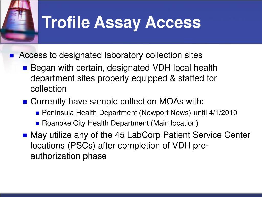 PPT - Trofile Assay Access Program PowerPoint Presentation - ID:1281063
