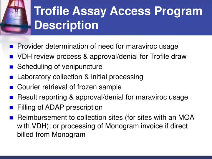 Trofile Assay Access Program Description