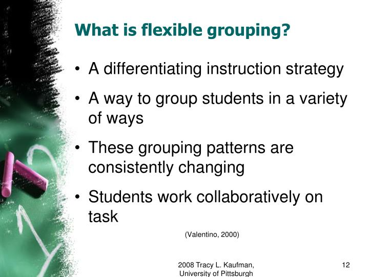 Ppt Flexible Grouping An Intervention To Decrease Classroom