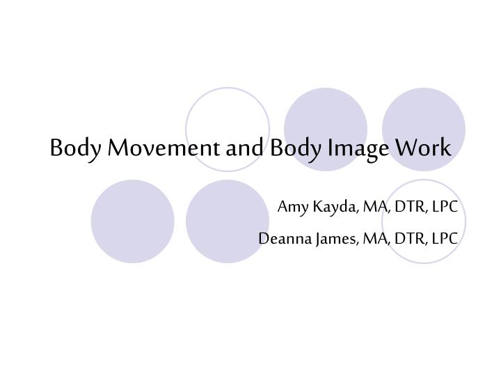 body movement and body image work n.