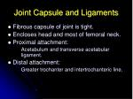 joint capsule and ligaments1
