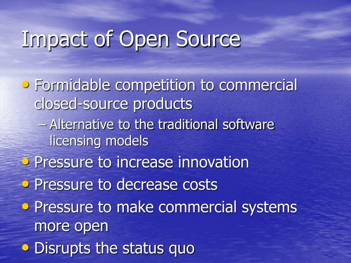 Impact of Open Source