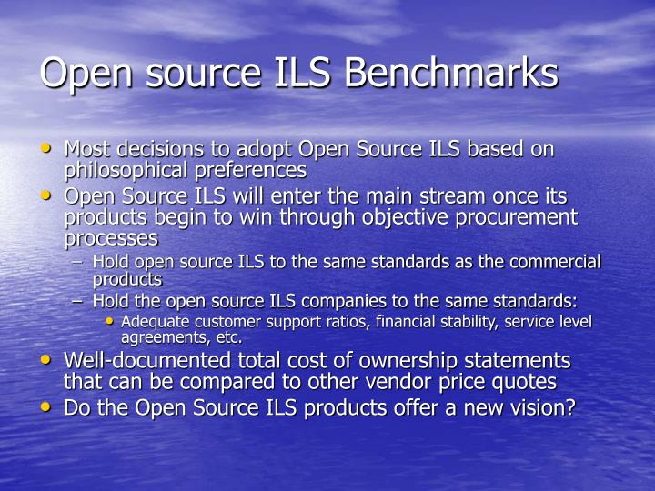 Open source ILS Benchmarks