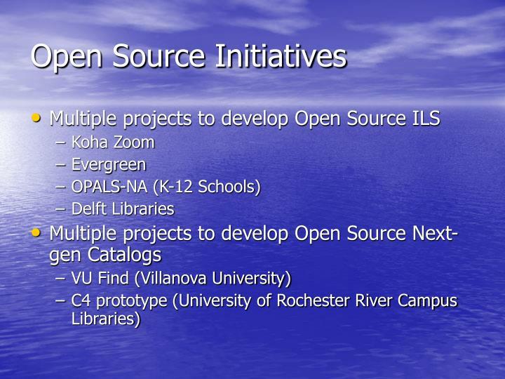 Open Source Initiatives
