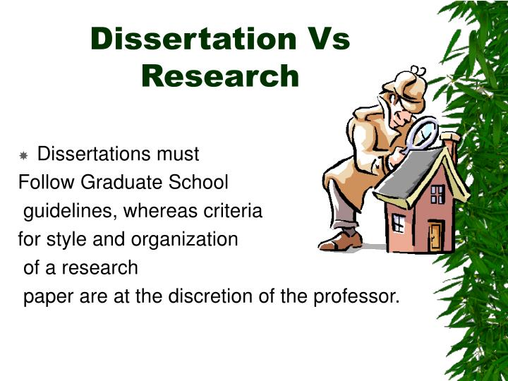 Dissertation Vs Research