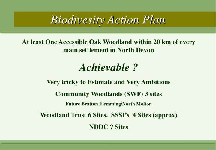 Biodivesity Action Plan