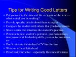 tips for writing good letters