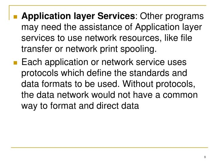 Application layer Services