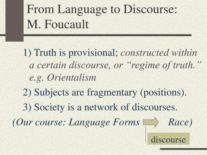 From Language to Discourse: