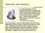 americus and america
