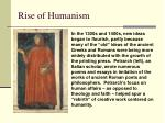 rise of humanism