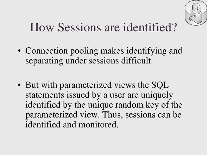 How Sessions are identified?