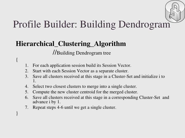 Profile Builder: Building Dendrogram