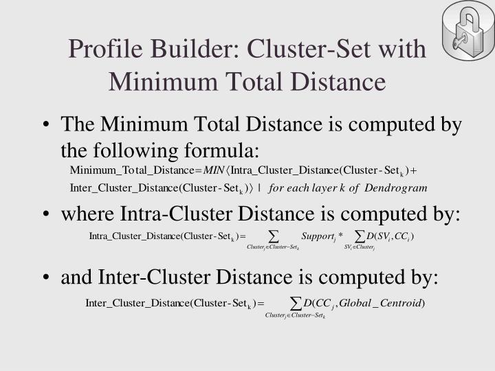 Profile Builder: Cluster-Set with Minimum Total Distance