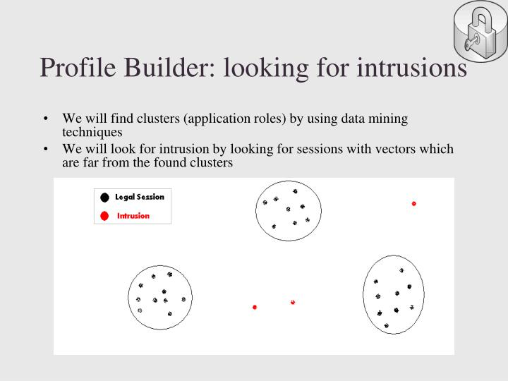 Profile Builder: looking for intrusions