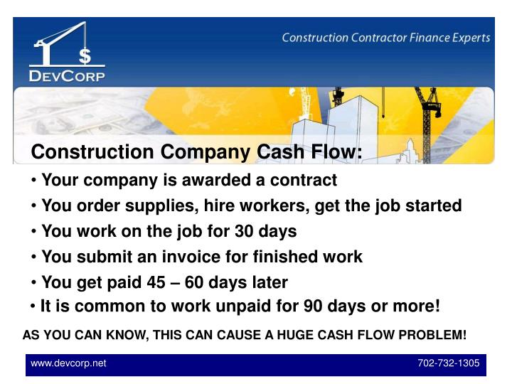 Construction Company Cash Flow: