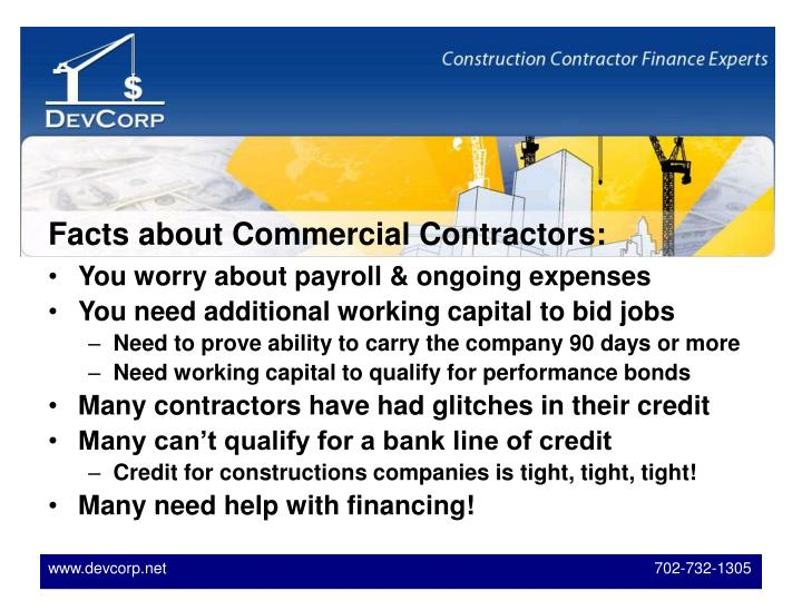 Facts about Commercial Contractors: