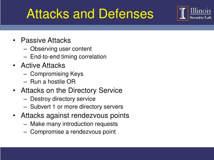Attacks and Defenses