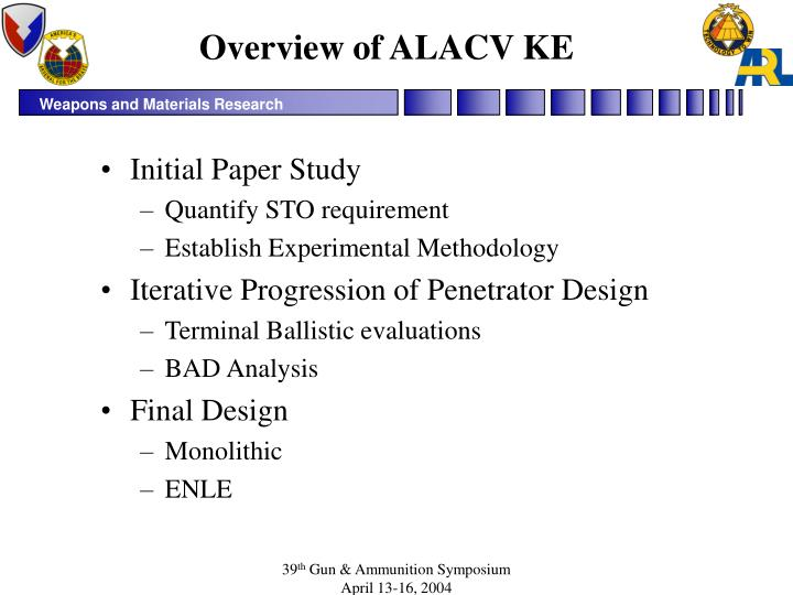 Overview of alacv ke