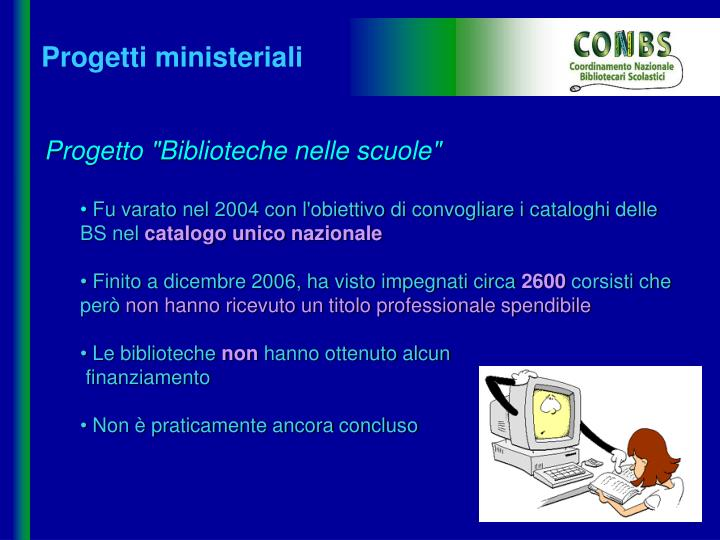Progetti ministeriali