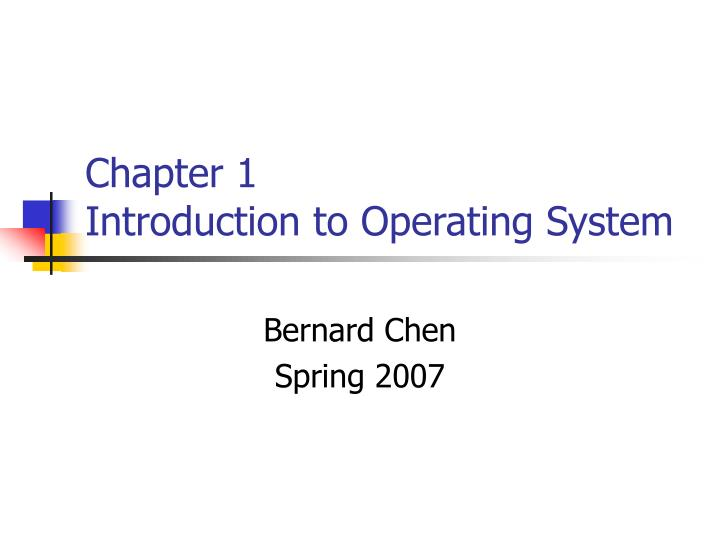 chapter 1 introduction to operating system n.