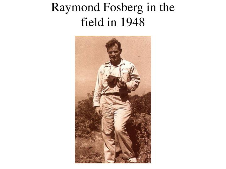 Raymond Fosberg in the