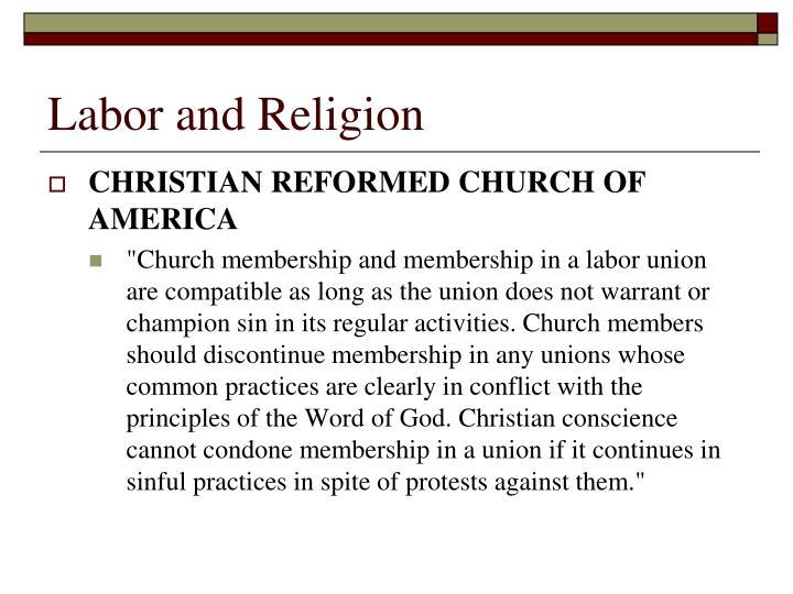 Labor and Religion