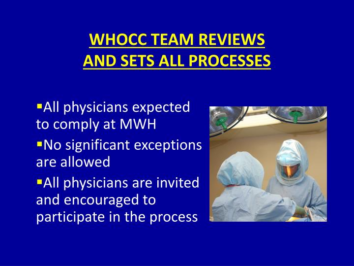 WHOCC TEAM REVIEWS