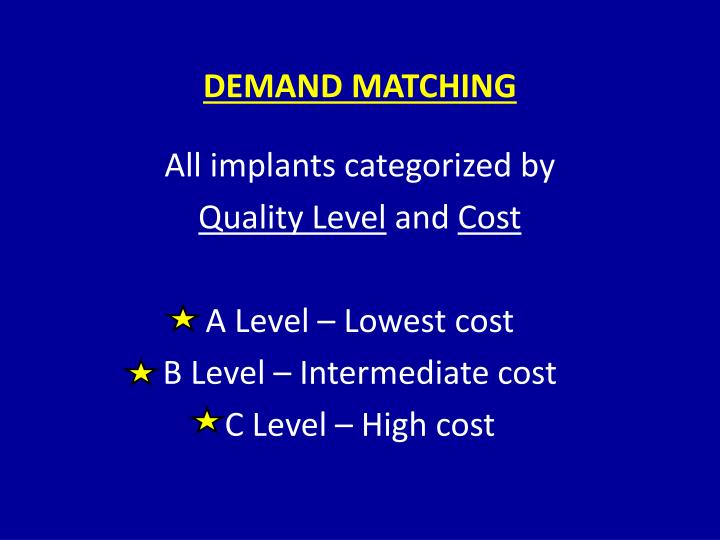 DEMAND MATCHING