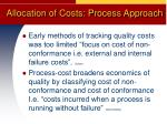 allocation of costs process approach