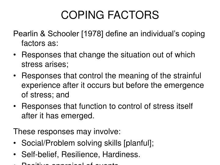 COPING FACTORS