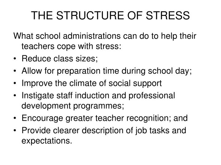 THE STRUCTURE OF STRESS