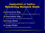 applications of topdisc retrieving network state