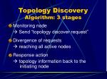 topology discovery algorithm 3 stages