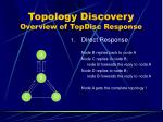 topology discovery overview of topdisc response