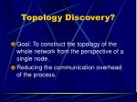 topology discovery