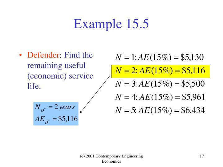 Example 15.5