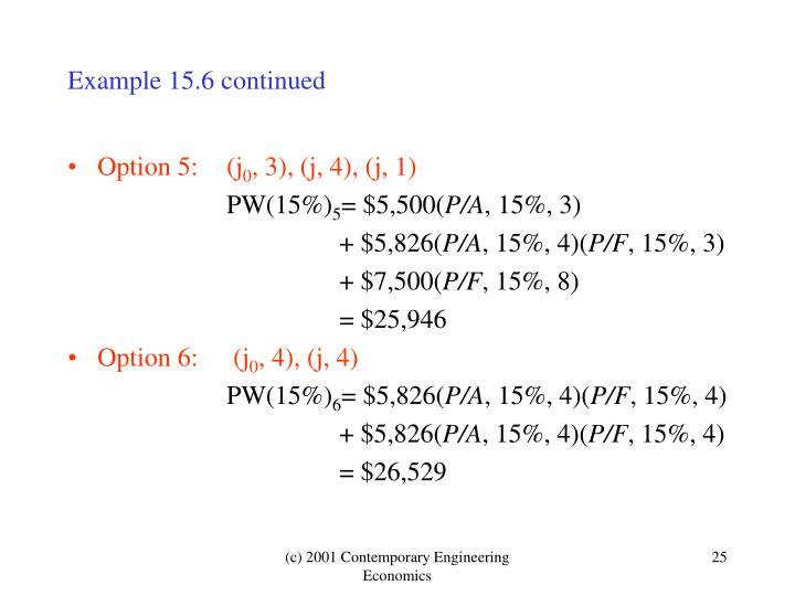 Example 15.6 continued