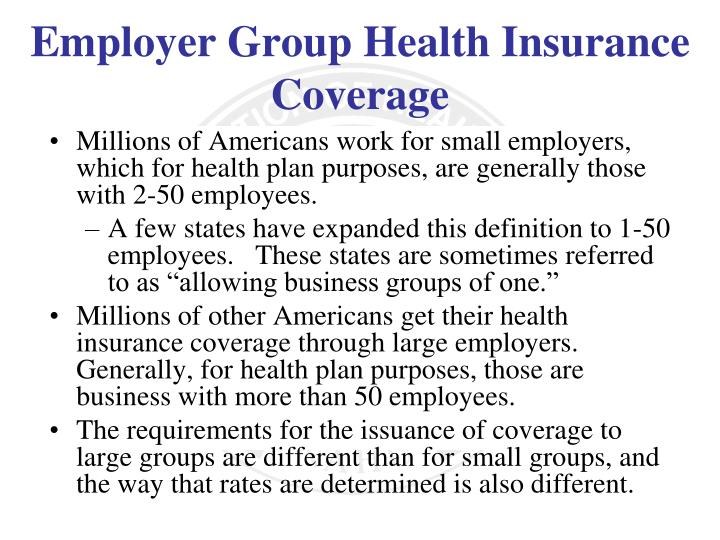 Millions of Americans work for small employers, which for health plan purposes, are generally those with 2-50 employees.