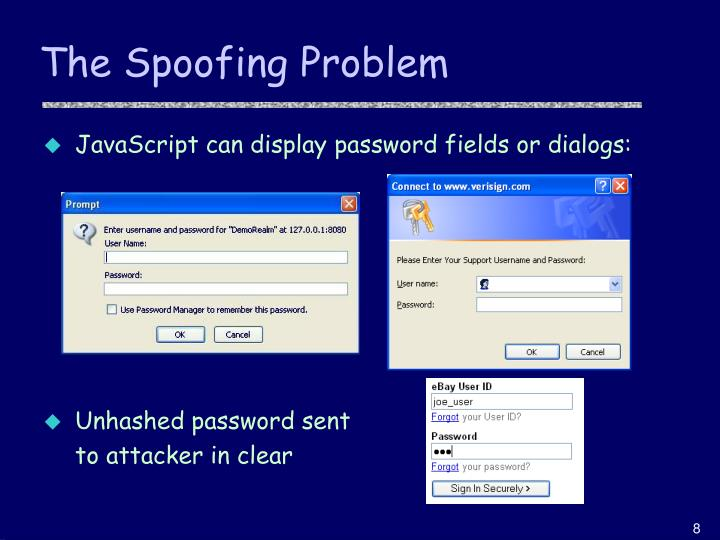 The Spoofing Problem