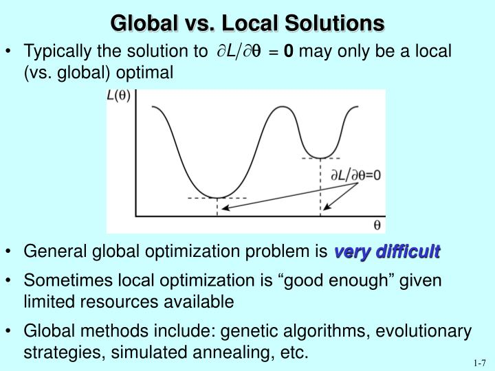 Global vs. Local Solutions