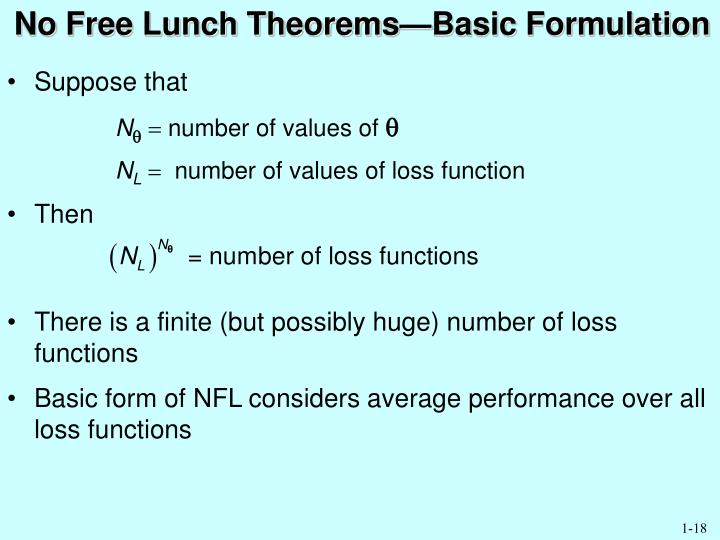 No Free Lunch Theorems—Basic Formulation