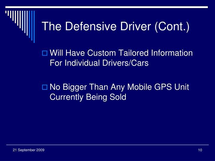 The Defensive Driver (Cont.)