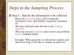 steps in the sampling process4