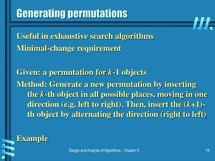 Generating permutations