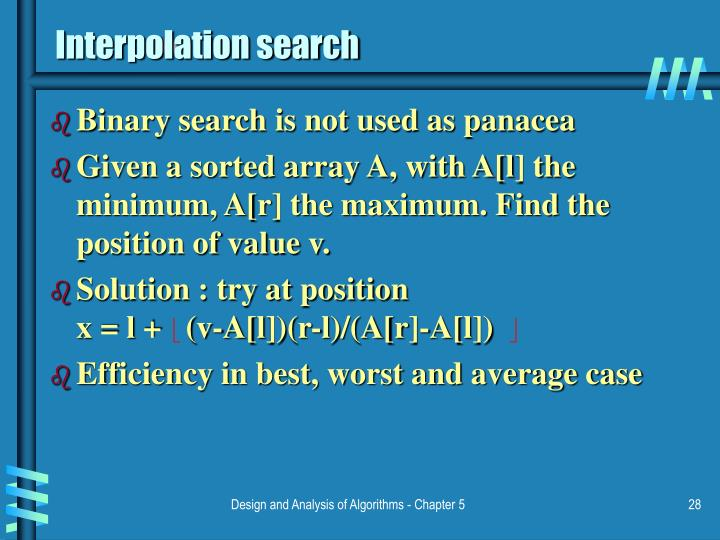 Interpolation search