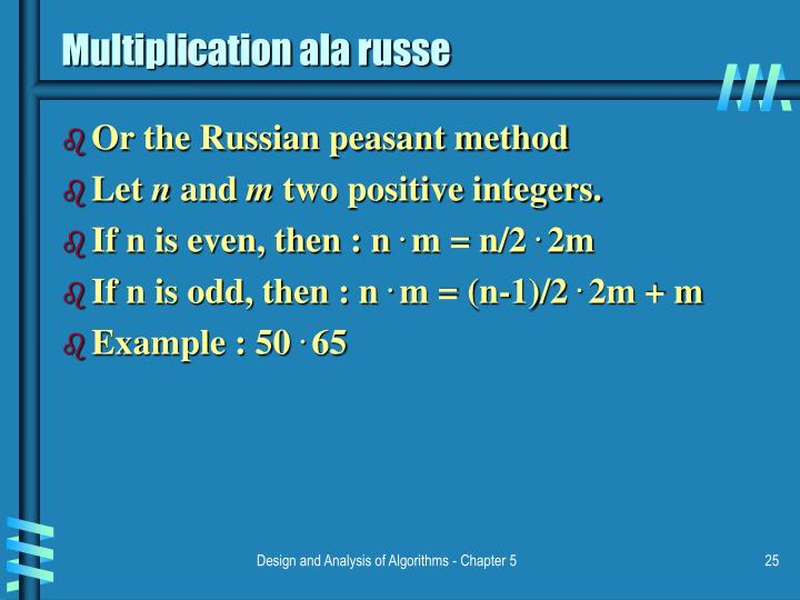 Multiplication ala russe