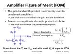 amplifier figure of merit fom